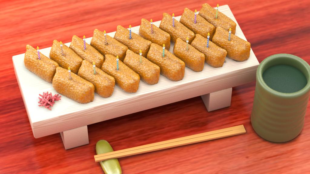 お誕生日いなり寿司
