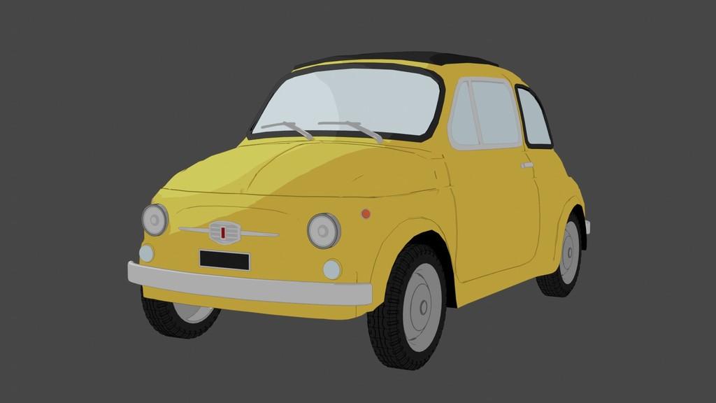 toonレンダリングの車