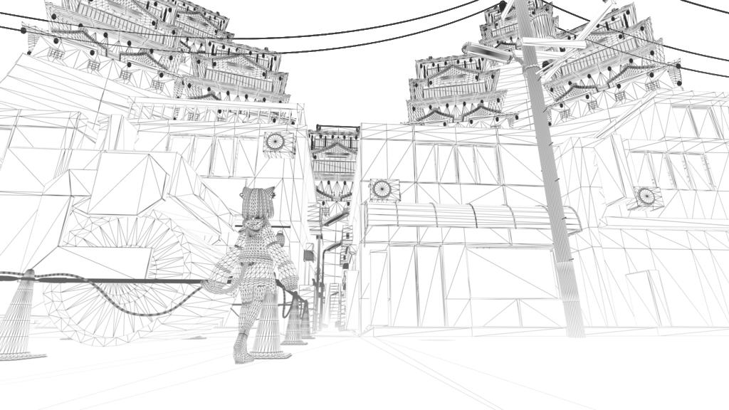 路地裏と異世界wireframe