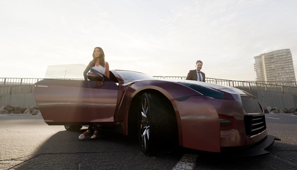 Unreal Engine Car Rendering 02