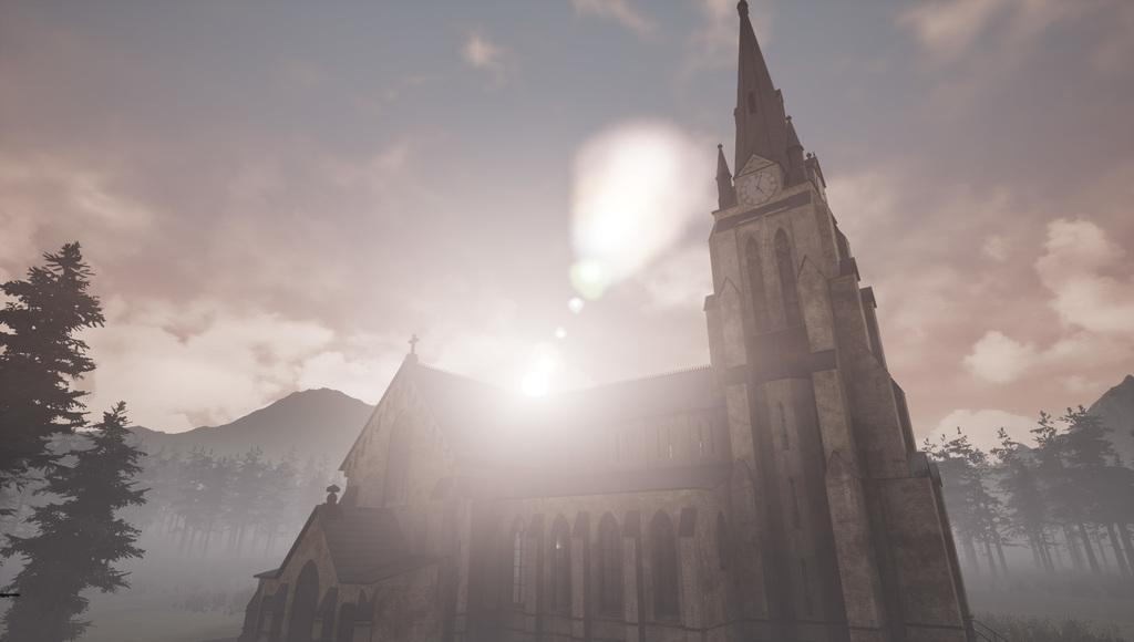 MAYA, UE4 で作成したヨーロッパの教会