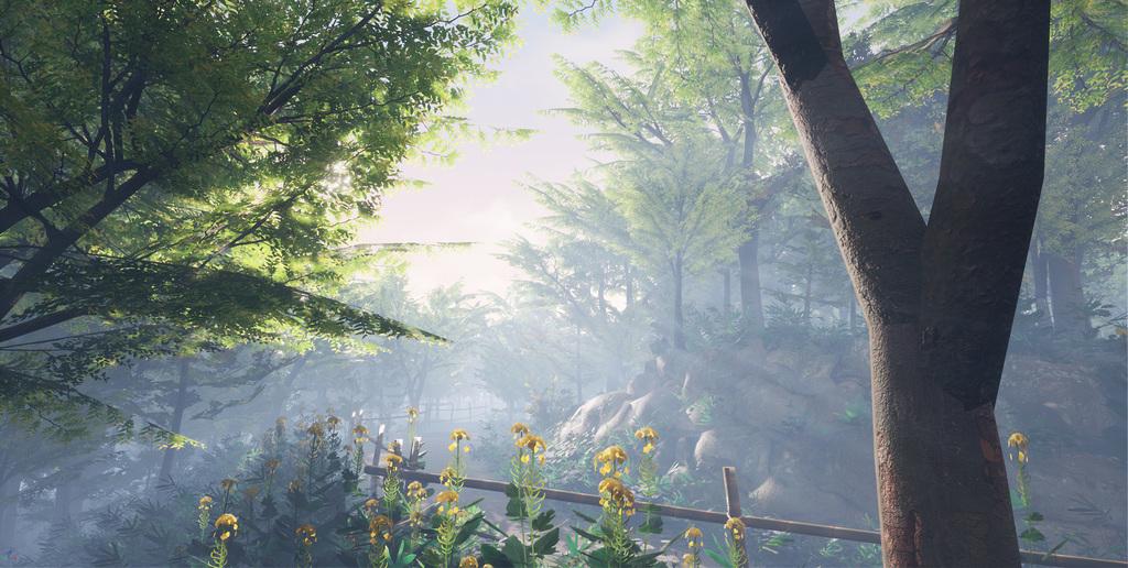 MAYA, UE4 で作成した日本の森林