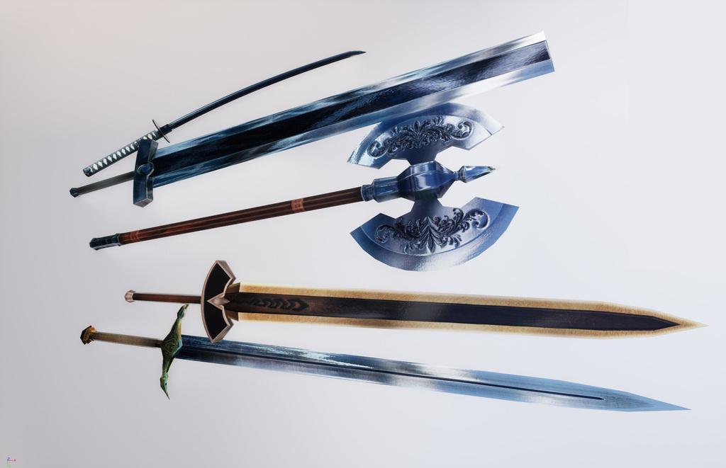 MAYA, UE4 で作成した武器