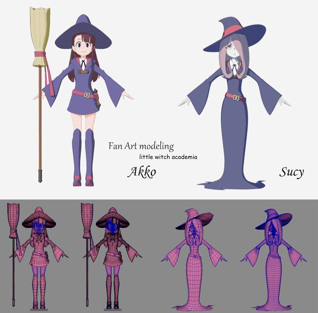 fan modeling little witch academia