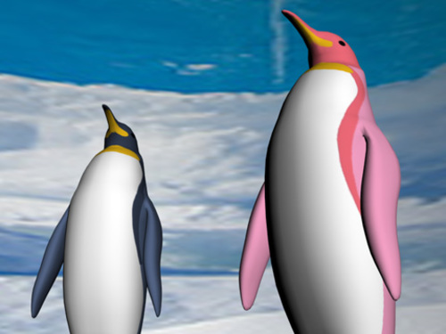 Medium large penguin standing01