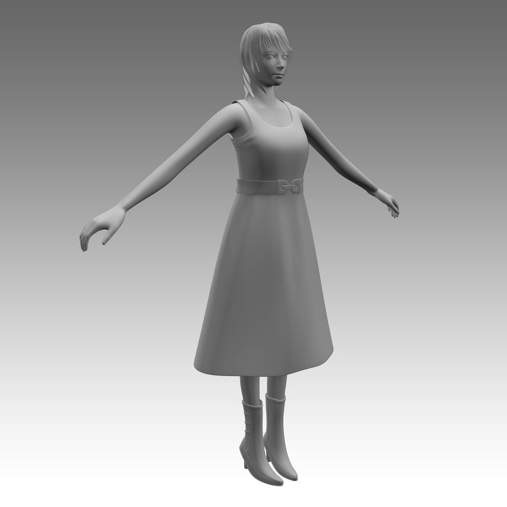 3DCGキャラクターモデリング_1
