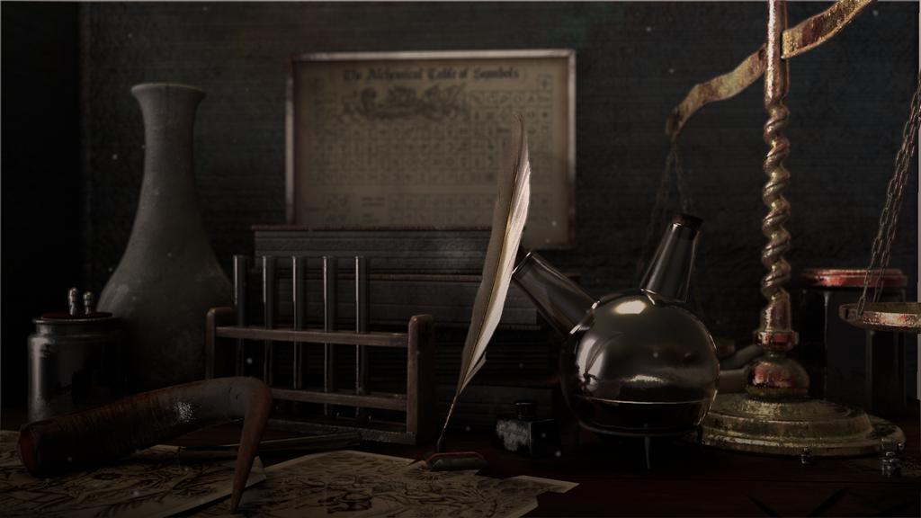錬金術師の部屋の片隅